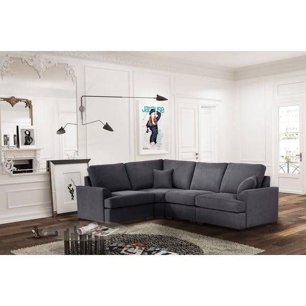 Sofa narożna Jalouse Maison Irina, lewy róg, stalowa