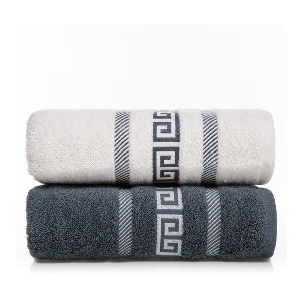 Zestaw 2 ręczników Cecila V1, 50x90 cm