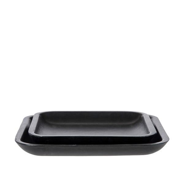 Zestaw 2 tac Plate Black, 25 cm