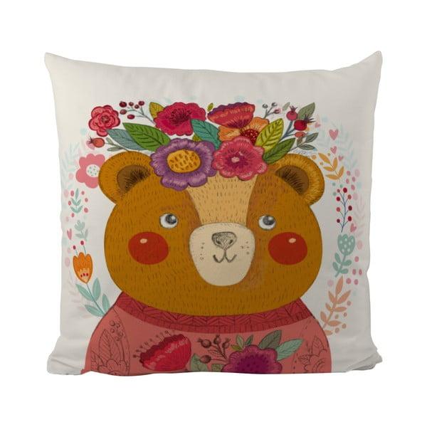 Poduszka   Flower Bear, 50x50 cm