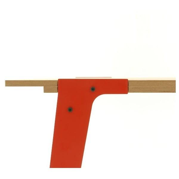 Pomarańczowy stół/biurko rform Switch, blat 200x90 cm