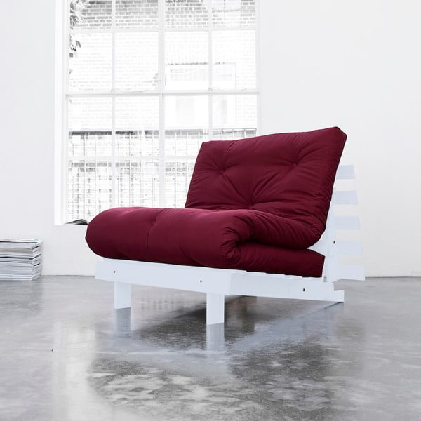 Fotel rozkładany Karup Roots Cool Gray/Bordeaux