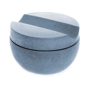Betonowa miska do golenia z mydłem cedrowym, niebieska
