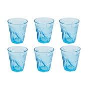 Komplet 6 szklanek Kaleidoskop 225 ml, jasnoniebieski