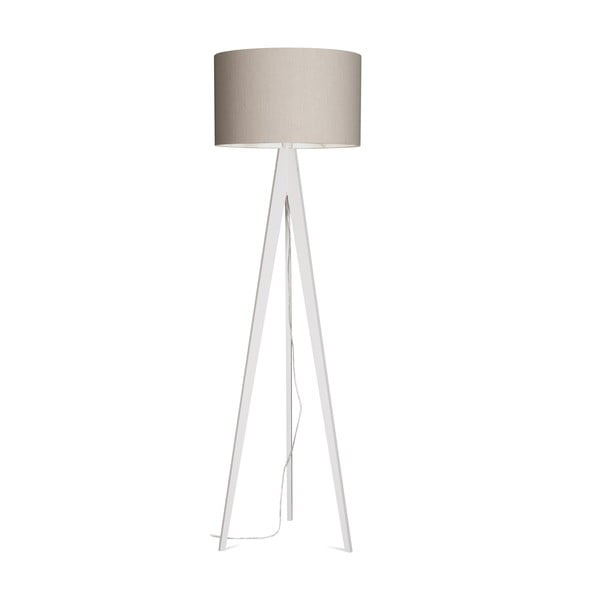 Lampa stojąca Artist Grey Linnen/White, 125x42 cm