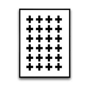 Plakat w drewnianej ramie Cross, 38x28 cm