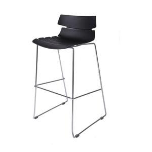 Krzesło barowe D2 Techno, czarne