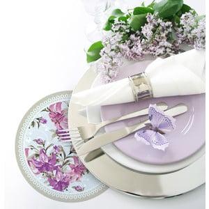 Zestaw 2 mat stołowych Purple Roses