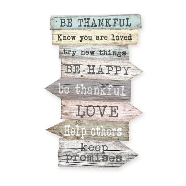 Tablica naścienna Family Rules Thankful