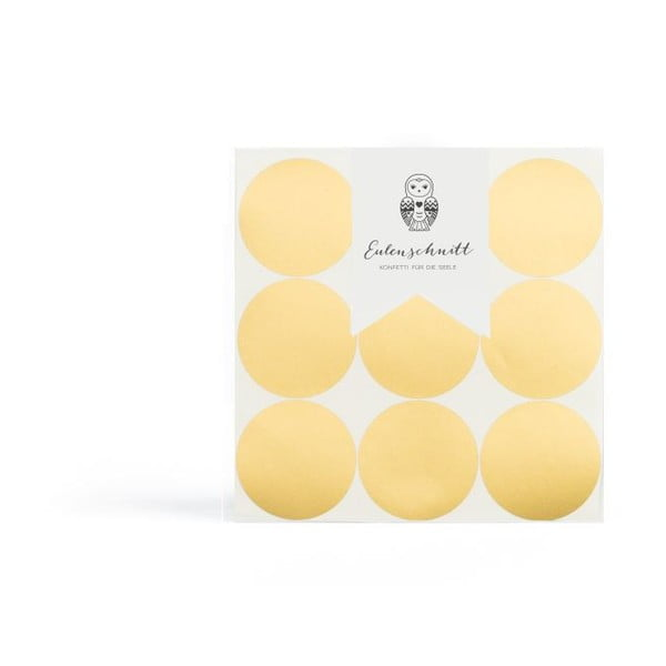 Naklejka naścienna Goldene Dots, 18 sztuk