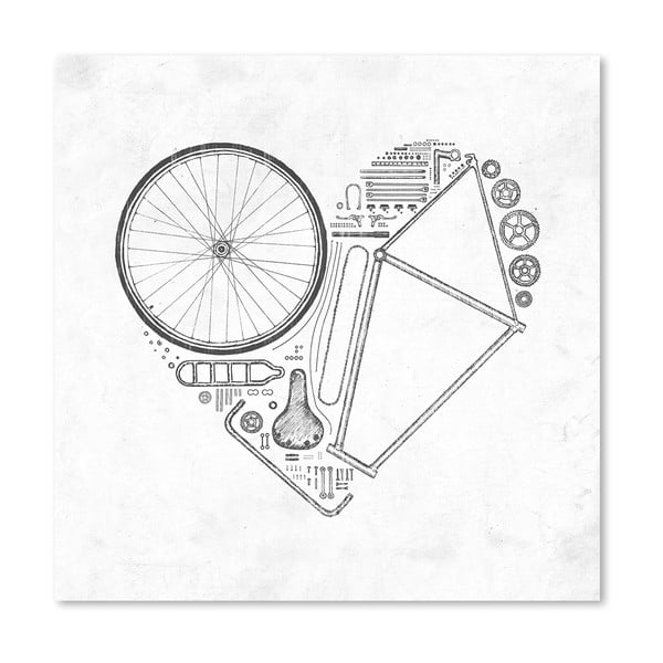 Plakat Love Bike, 30x30 cm