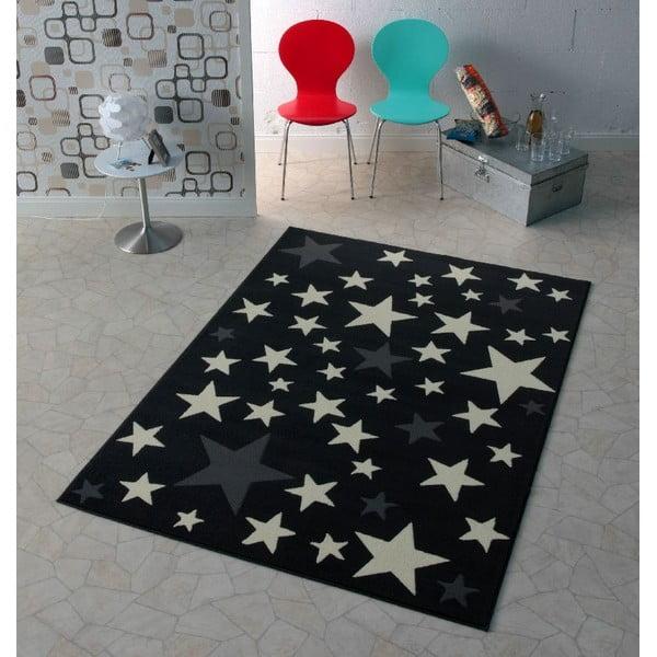 Czarny dywan Hanse Home Stars, 140x200 cm