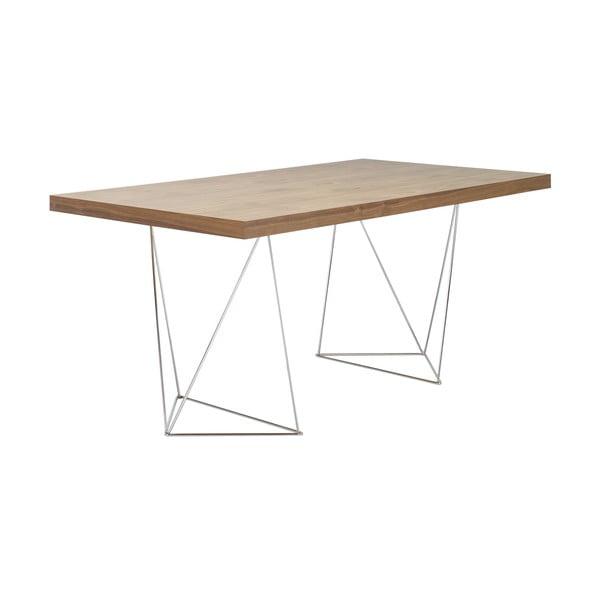 Brązowy stół do jadalni TemaHome Trestle, dł. 180 cm,