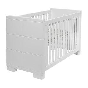 Białe łóżeczko dziecięce Núvol Laia, 60x120cm