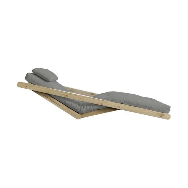 Szezlong rozkładany z szarym pokryciem Karup Design Figo Natural/Grey