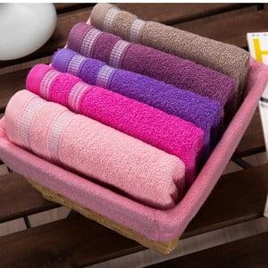 Zestaw 5 ręczników Pinkie Basket, 30x50 cm