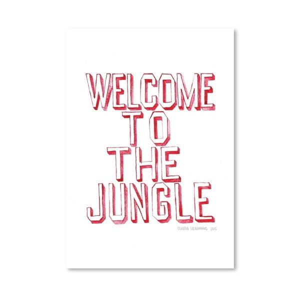 Plakat Welcome, 30x42 cm