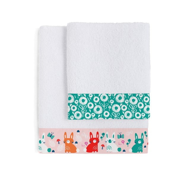 Zestaw 2 ręczników Lapins, 50x100 a 70x140 cm