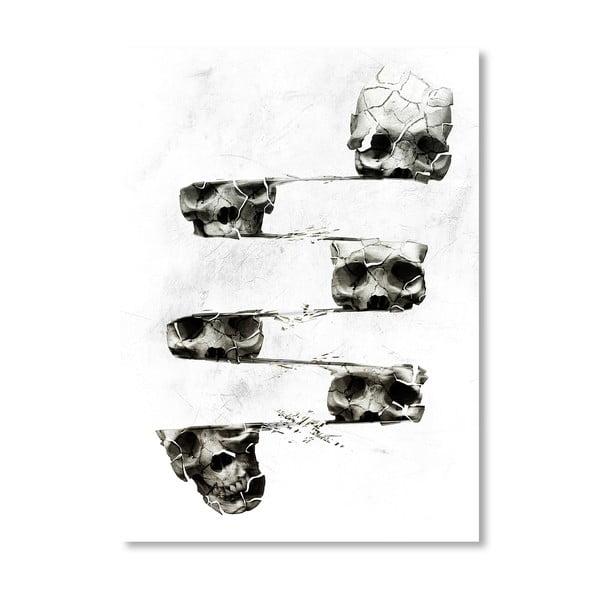 """Plakat autorski """"Distorted Skull"""""""