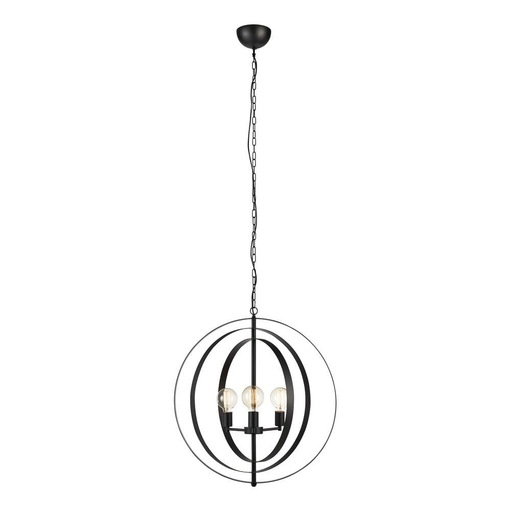 Czarna lampa wisząca Markslöjd Orbit Pendant Black 3L