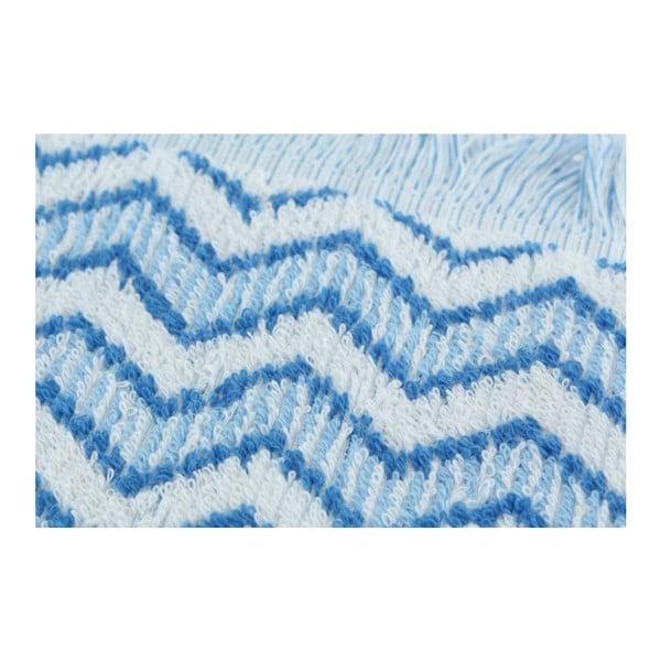 Komplet 2 ręczników Zig Zag Blue, 70x140 cm