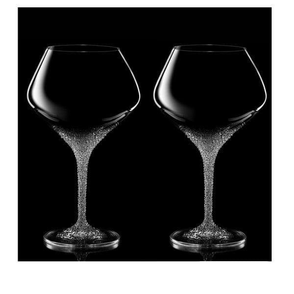 Zestaw 2 kieliszków do czerwonego wina Poseidon ze Swarovski Elements