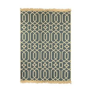 Niebieski dywan Floorist Kenar Blue Beige, 80x150 cm