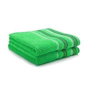 Komplet dwóch ręczników Hugo 50x90 cm, green