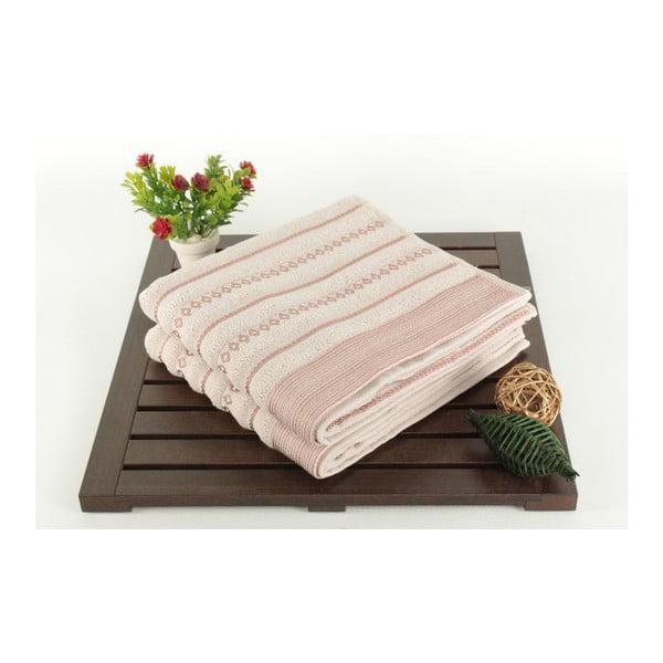 Zestaw 2 ręczników Patricia Bombeli Pink, 50x90 cm