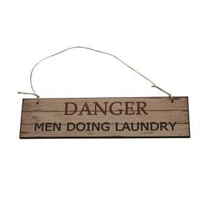 Tabliczka wisząca Men Doing Laundry