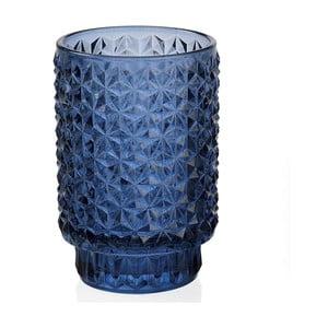 Niebieski świecznik ze szkła Andrea House Azuro, 8,5x13 cm