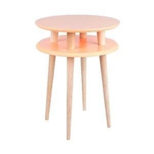 Pomarańczowy stolik Ragaba UFO, Ø 45 cm