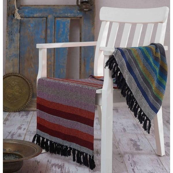 Ręcznik hammam Renkli Black, 100x180 cm