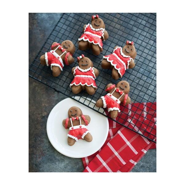 Forma na 6 babeczek w srebrnym kolorze Nordic Ware Girls And Boys, 1,1 l