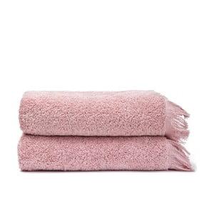 Komplet 2 różowych ręczników bawełnianych Casa Di Bassi Face, 50x90 cm