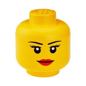 Pojemnik głowa mały pojemnika LEGO® Girl