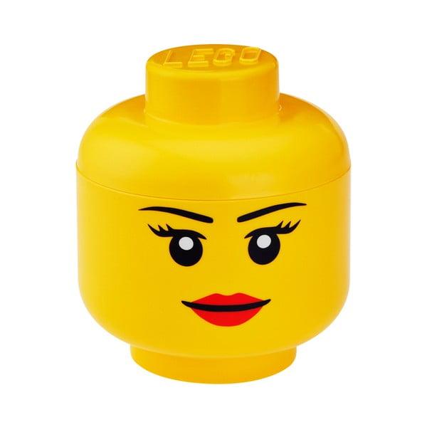 Pojemnik w kształcie głowy LEGO® Girl, Ø 16,3 cm