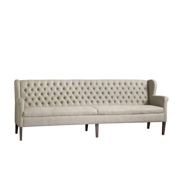 Beżowa sofa z jasnymi nogami Canett Kingston