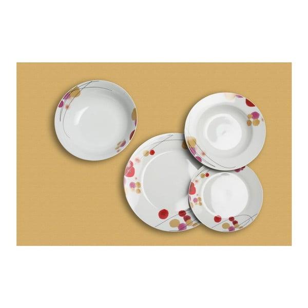 Komplet porcelanowych talerzy Spring, 19 sztuk