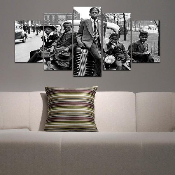 Wieloczęściowy obraz Black&White no. 47, 100x50 cm