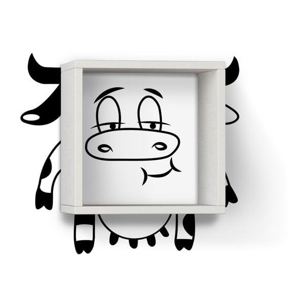 Półka z naklejką Cow White