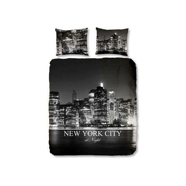 Pościel NYC Black, 140x220 cm