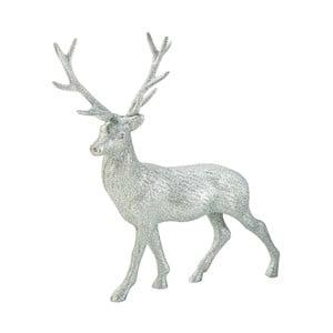 Dekoracja Glitter Reindeer Silver