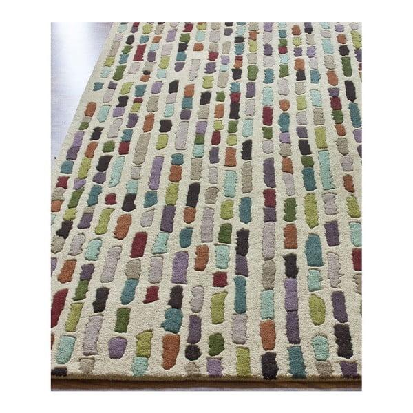 Wełniany dywan Multi Stripes, 152x244 cm