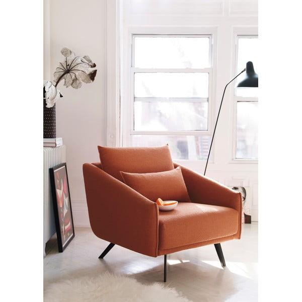 Fotel Costrua, ceglany