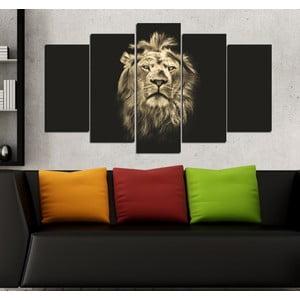 5-częściowy obraz Król zwierząt