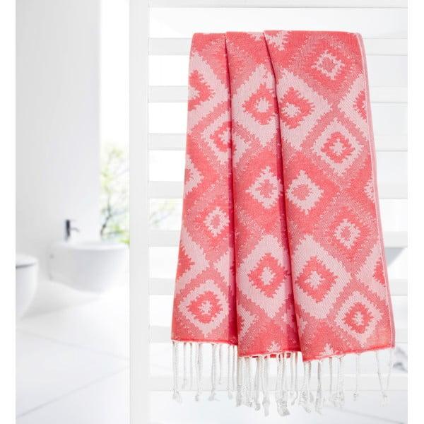 Ręcznik hammam Joy, czerwony