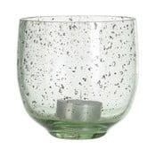 Zielony świecznik szklany A Simple Mess, ⌀10cm