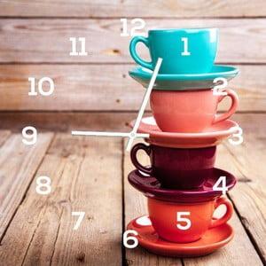 Zegar szklany DecoMalta Cups, 30x30cm