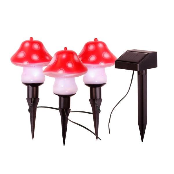 Lampiony Solar Energy Mushrooms Sticks, 3 ks